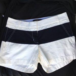 |NWOT} J Crew women's nautical chino shorts size 4